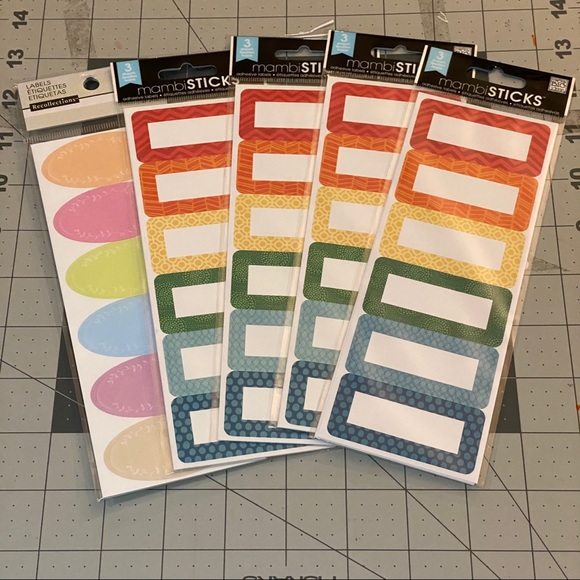 5-packs of mambisticks stickers labels